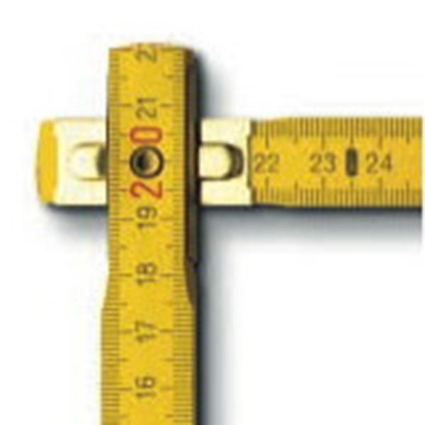 2m Standard-Zollstock BMI aus Buchenholz (Productno.: BMI-9042)
