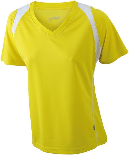 Damen Laufshirt mit V-Ausschnitt (Productno.: D-JN396)