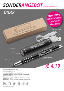 Set Powerbank & Touch-Pen Siena (Productno.: FLYER-SIENA)