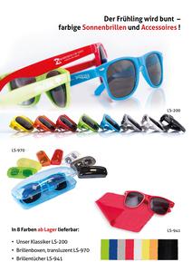 Der Frühling wird bunt... mit unseren Sonnenbrillen (Productno.: FLYER-Sonne2017)