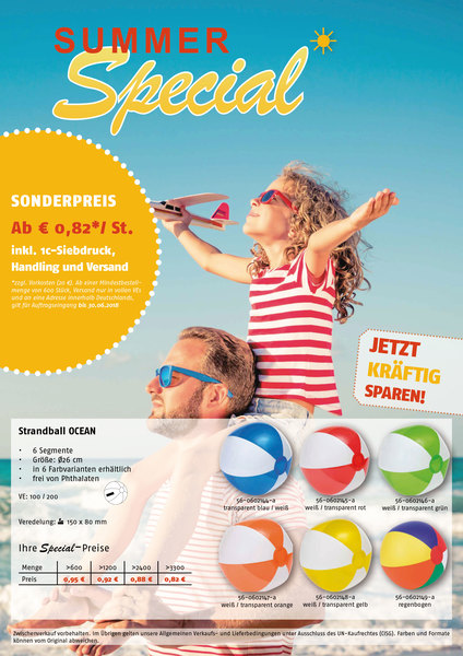 Strandball OCEAN (Productno.: FLYER-Strandbal)