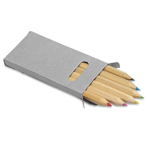 Buntstifte, 6er Set im Pappetui, kurz (Productno.: GE-2432)