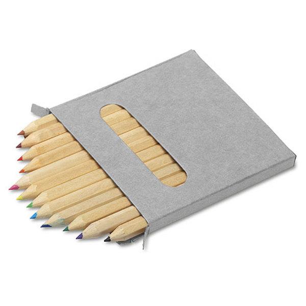 Buntstifte, 12er Set im Pappetui, kurz (Productno.: GE-2468)