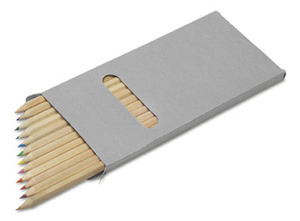 Buntstifte, 12er Set im Pappetui, lang (Productno.: GE-2474)
