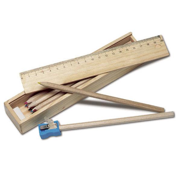 Buntstifte 11er Set in Holzbox (Productno.: GE-2545)
