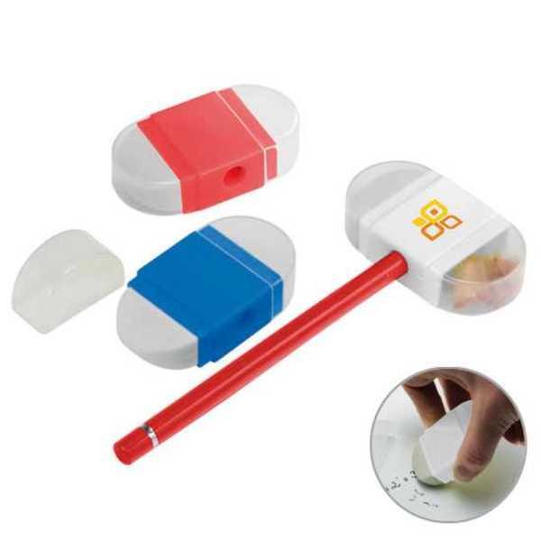 Bleistiftspitzer mit Radiergummi (Productno.: H-8702)