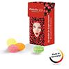 Mini Slim-Box gefüllt mit Bonbons (Productno.: JU-Mini Slim-Bo)