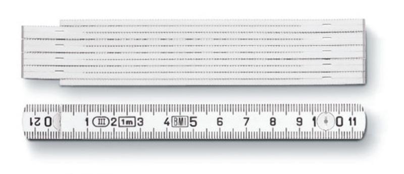 1 m Kunststoff-Zollstock Typ 1004 w (Productno.: ST-1004)