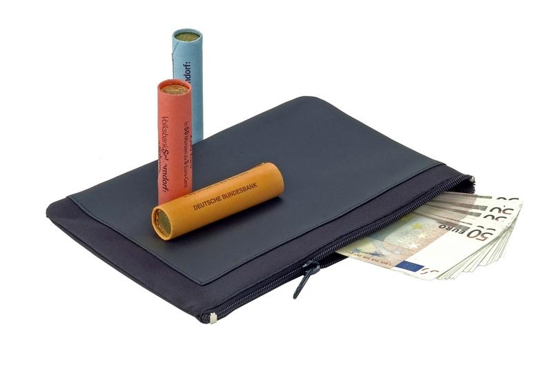 "Banktasche ""Quadro"" grau mit schwarz (Productno.: TD-36575)"