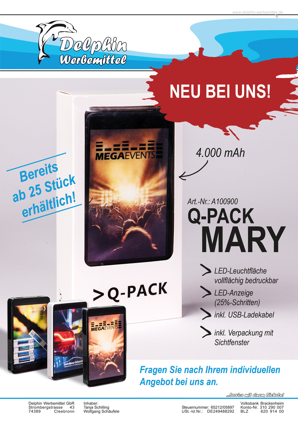 Flyer Powerbank Mary